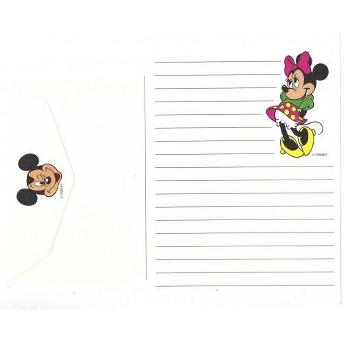 Conjunto de Papel de Carta ANTIGO Personagens Disney Minnie Branco