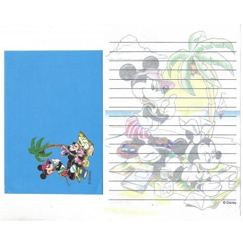 Conjunto de Papel de Carta ANTIGO Personagens Disney Beach