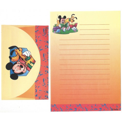 Conjunto de Papel de Carta ANTIGO Personagens Disney CLA