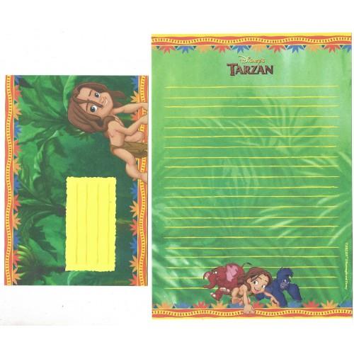 Conjunto de Papel de Carta ANTIGO Personagens Disney Tarzan