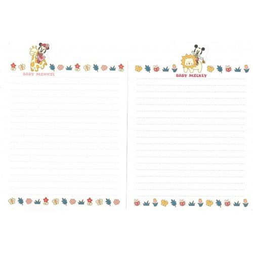 Conjunto de Papel de Carta ANTIGO Baby Minnie & Mickey TOKYO Disneyland