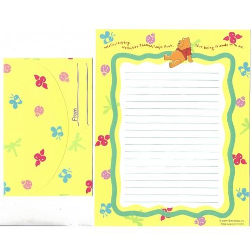 Conjunto de Papel de Carta Disney POOH & Ladybug CAM Japan