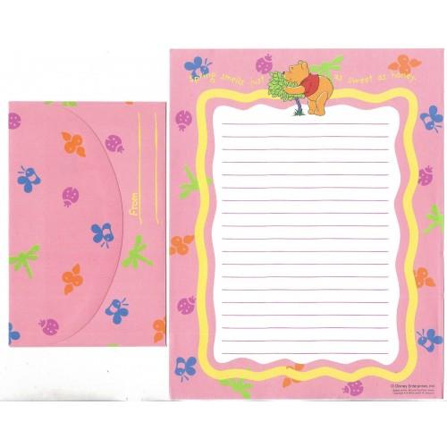 Conjunto de Papel de Carta Disney POOH Spring CRS Japan