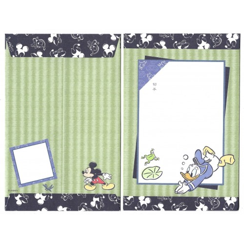Conjunto de Papel de Carta ANTIGO Donald Duck JAPAN
