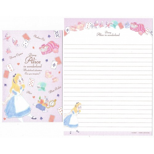 Conjunto de Papel de Carta Disney Alice in Wonderland Adventure CLL KAMIO