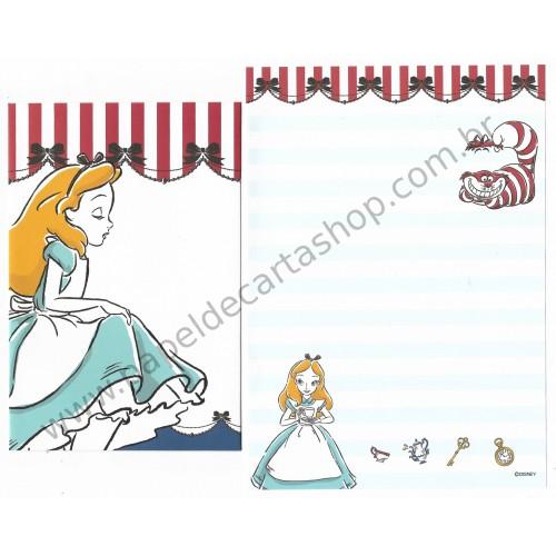 Conjunto de Papel de Carta Disney Alice in Wonderland 10/6 CVM