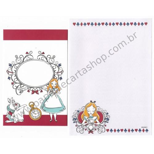 Conjunto de Papel de Carta Disney Alice in Wonderland 10/6 CRS