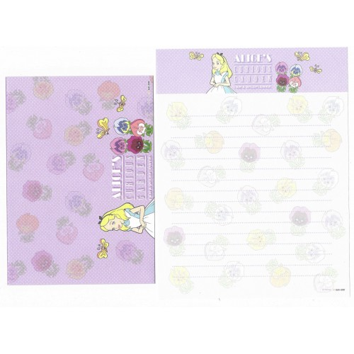 Conjunto de Papel de Carta Disney Alice Curious Garden CLL