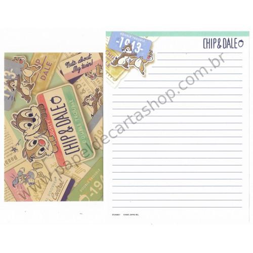 Conjunto de Papel de Carta Importado Disney Chip'n'Dale I Japan