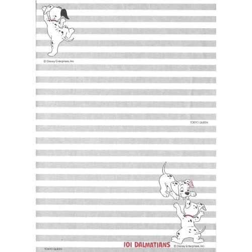 Papel de Carta ANTIGO VINTAGE 101 Dalmatians CLI JP