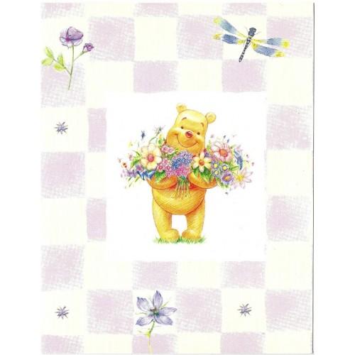 Notecard Disney POOH SEM ENVELOPE CLL 01