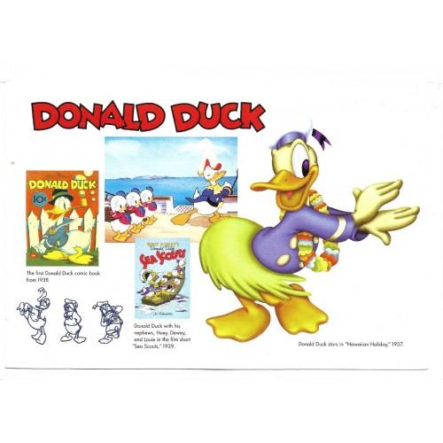 NOTECARD Importado The Walt Disney Gallery DONALD DUCK 65A 01
