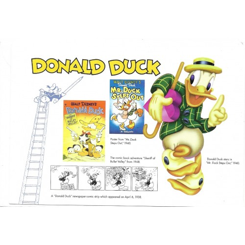 NOTECARD Importado The Walt Disney Gallery DONALD DUCK 65A 02