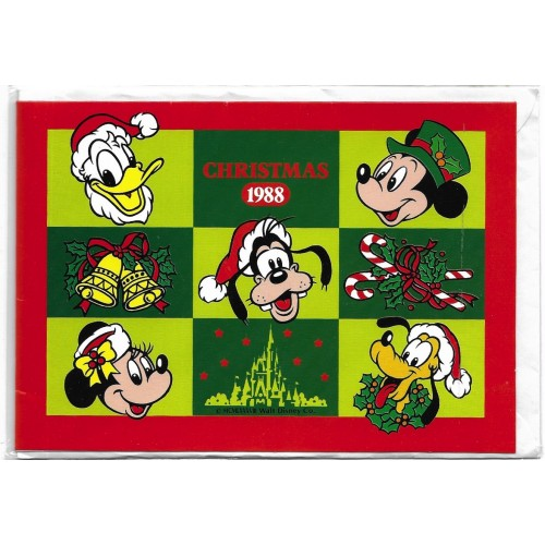NOTECARD Importado Christmas 1988 TOKYO DISNEYLAND