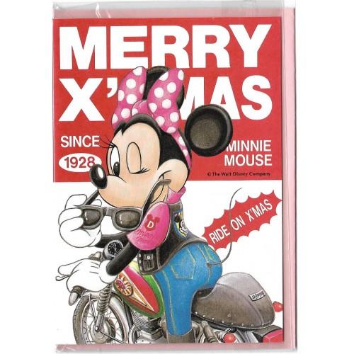 Notecard Importado Minnie Ride on X'Mas LYRIC Japan