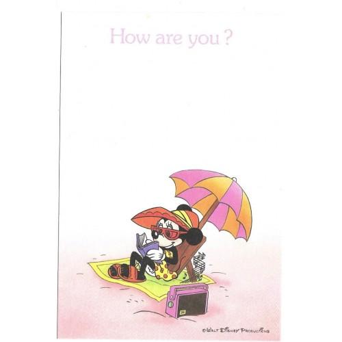 Postcard Antigo Vintage Disney Minnie LYRIC JAPAN