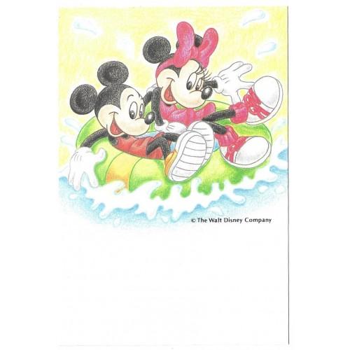 Postcard Antigo Vintage Disney Mickey & Minnie on Vacation LYRIC JAPAN