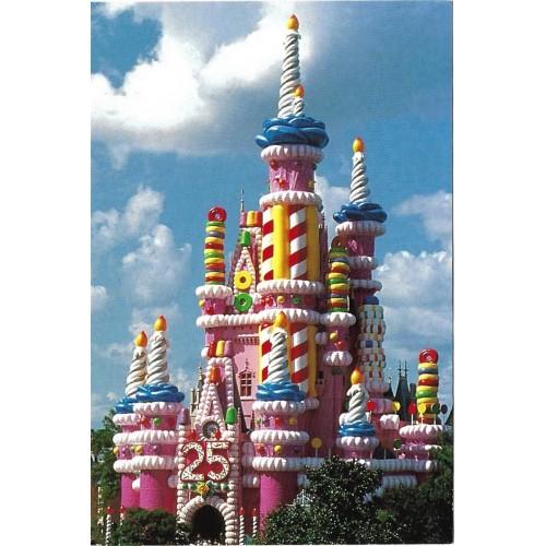 Postcard Antigo Vintage Disney A Sweet Celebration Cinderella Castle