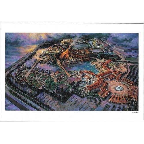 Postcard Antigo Vintage TOKYO Disneyland Disney SEA