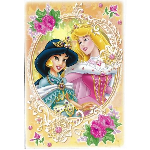 Postcard Antigo Vintage Disney Princess CLA BANDAI 2008 JAPAN