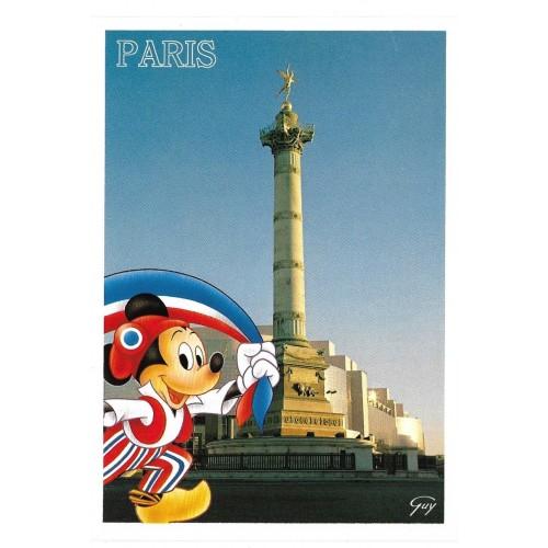 Postcard Antigo Vintage Disney Paris La Place de la Bastille