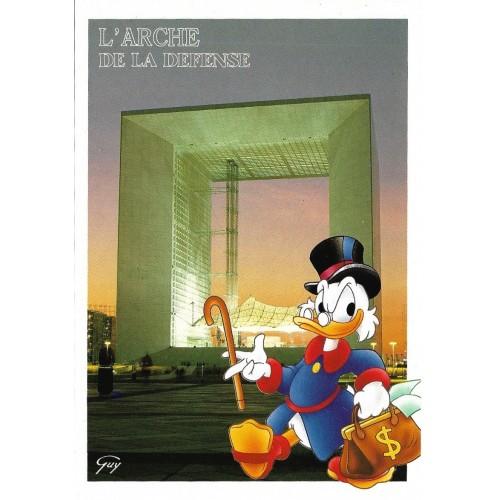 Postcard Antigo Vintage Disney Paris L'Arche de la Fraternité