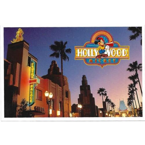 Postcard Antigo Vintage Hollywood Boulevard Disney Studios
