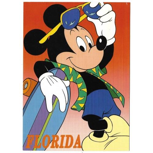 "Postcard Antigo Vintage Disney Mickey""s Florida Collection 41FL"