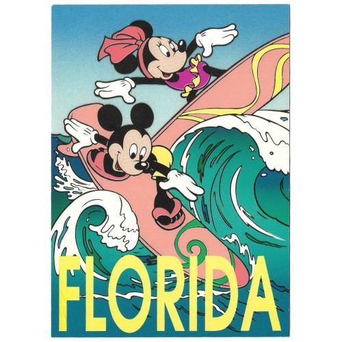 "Postcard Antigo Vintage Disney Mickey""s Florida Collection 02FL"