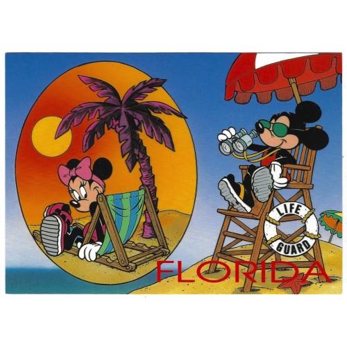 "Postcard Antigo Vintage Disney Mickey""s Florida Collection 42FL"