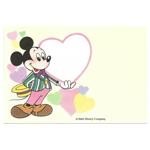 Postcard Antigo Vintage Disney Mickey Heart LYRIC JAPAN
