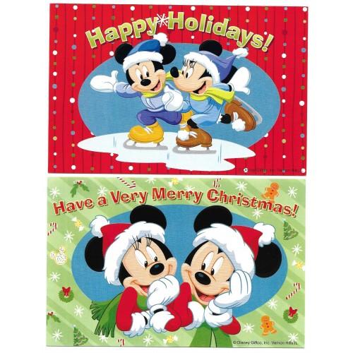 Kit 4 Postcards & Mini-Conjunto com PS Card Antigo Disney Christmas