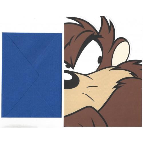 Conjunto de Papel de Carta ANTIGO IMPORTADO Looney Tunes TAZ Warner