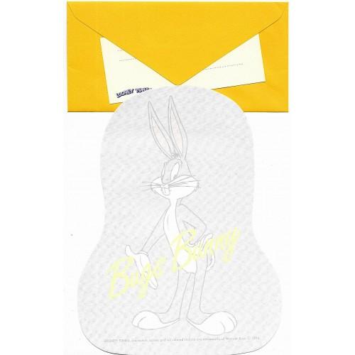 Ano 1994. Conjunto de Papel de Carta IMPORTADO BUGS BUNNY Warner