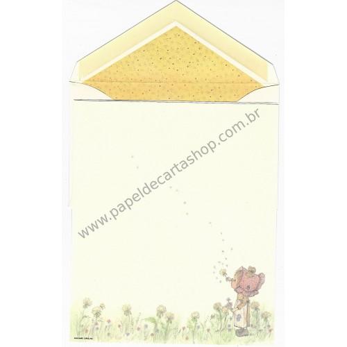 Conjunto de Papel de Carta ANTIGO Betsey Clark - Brincando Com Flores