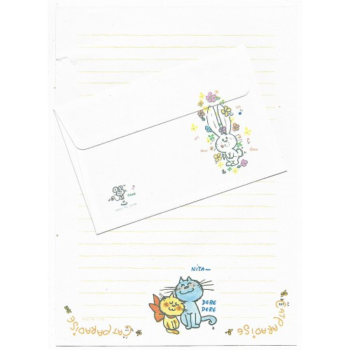 Conjunto de Papel de Carta com envelope ADO MIZUMORI 0079