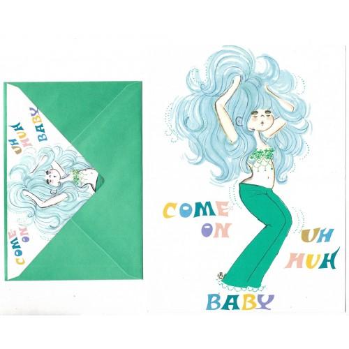 Conjunto de Papel de Carta com envelope ADO MIZUMORI 0080