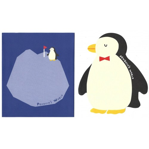 Conjunto de Papel de Carta Importado Alpha Point Penguin's World DC