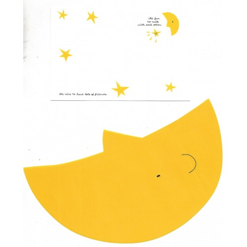 Conjunto de Papel de Carta Importado Alpha Point The Moon DC