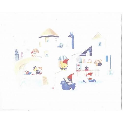 Ano 1989. Conjunto de Papéis de Carta Brownie's Story MM Vintage Sanrio