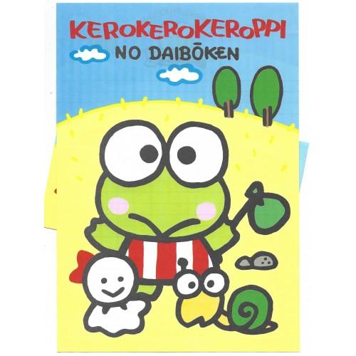Ano 1989. Conjunto de Papel de Carta Keroppi CAM Vintage Sanrio