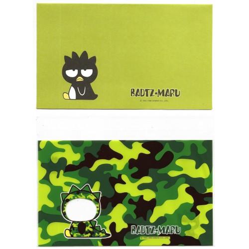 Ano 1999. Conjunto de Papel de Carta Badtz-Maru CAM Sanrio