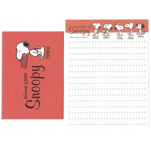 Conjunto de MINI-Papel de Carta Snoopy Peanuts 60 Years