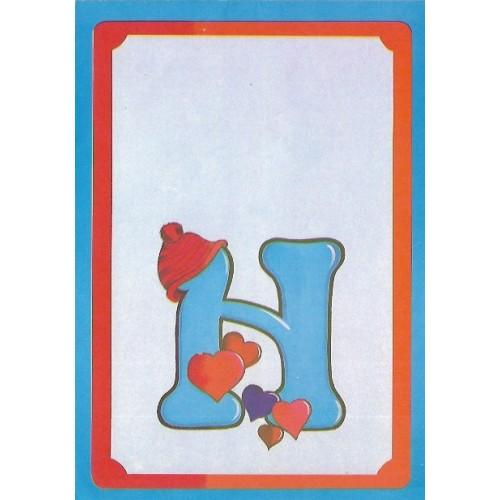 Papel de Carta Antigo Coleção BORDA AZUL 217