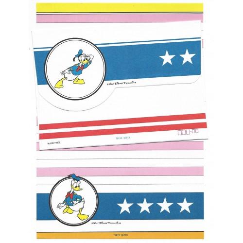Conjunto de Papel de Carta Disney Donald Duck Star Tokyo Queen