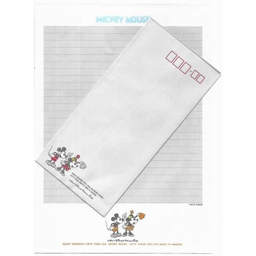 Conjunto de Papel de Carta Disney Mickey 50 Anos CIN Tokyo Queen