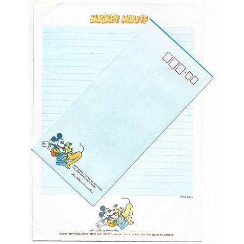Conjunto de Papel de Carta Disney Mickey 50 Anos CAZ Tokyo Queen