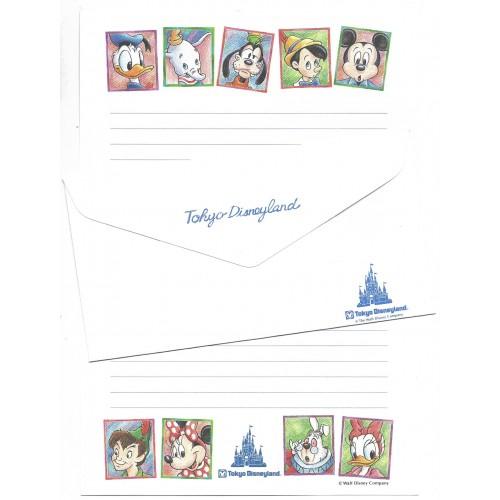 Conjunto de Papel de Carta Tokyo Disneyland JAPAN