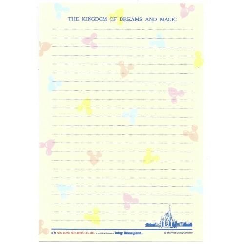 Conjunto de Papel de Carta Tokyo Disneyland The KINGDON JAPAN