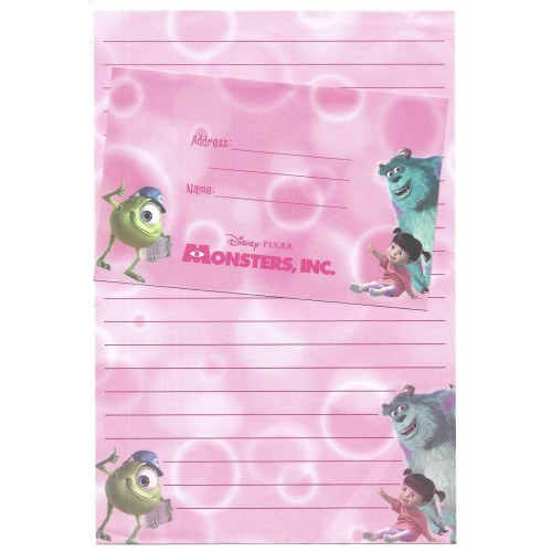 Conjunto de Papel de Carta Disney/Pixar Monsters University CRS
